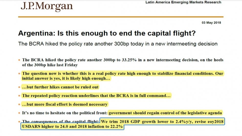 el-jp-morgan-ve-el-dlar-a-24-pesos-en-diciembre-y-reclama-ms-ajuste-fiscal-2018-05-07
